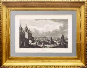 Москва. Кремль. 1836г. Старинная гравюра - антикварный VIP подарок