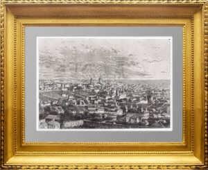 Воронеж. 1880г. Старинная гравюра - антикварный подарок