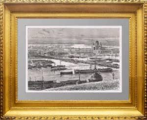 Нижний Новгород. 1880г. Старинная гравюра - антикварный подарок