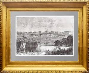 Омск. 1880г. Старинная гравюра - антикварный подарок