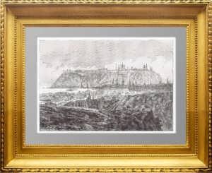 Тобольск. 1880г. Дюран-Браже. Старинная гравюра - антикварный подарок