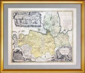 1734 INGERMANLANDIÆ Homann. Атрибуция не завершена