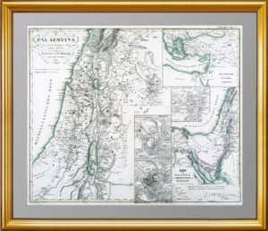 Израиль (Палестина). 1844г. Оригинальная старинная историческая карта