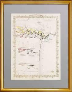 Крым. План сражения на Альме. 1855 г. Оригинальная старинная гравюра