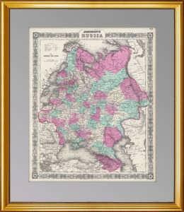 Российская империя. Европейская часть. 1865г. Джонсон