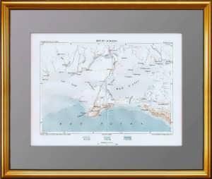 Крымский полуостров и юг России. 1880г. Антикварная карта