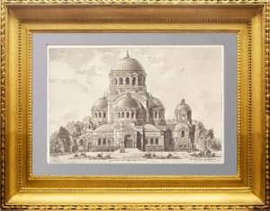 Петербург. Церковь Милующей Божией Матери. 1888г. Старинная гравюра