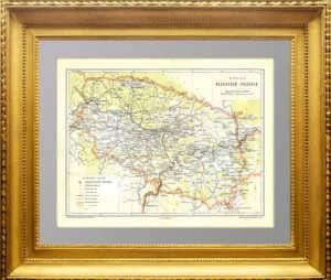 Казанская губерния. 1896г. Старинная карта