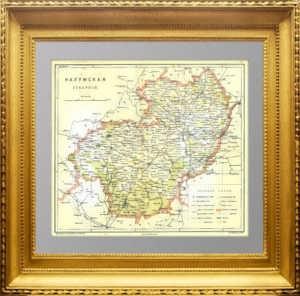 Калужская губерния. 1896г. Старинная карта