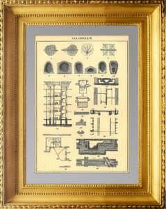 Канализация. 1896г. Антикварная гравюра - подарок строителю