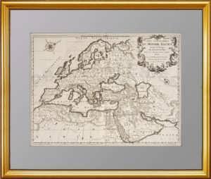 Carte Geographique du Monde Ancien Suivant le Partage des Enfans de Noe 1722