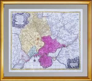 Крым и победы России над Турцией. 1765г. Антикварная карта, музейный экземпляр