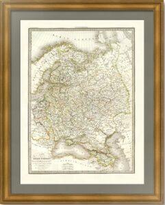 """Карта """"Россия в Европе"""". Лапье. 1830г.  (77,7x54!). Антикварный ВИП подарок"""