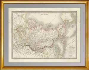 """Карта """"Россия в Азии и Америке"""". Лапье. 1832г.  (54х77!).  ВИП подарок"""