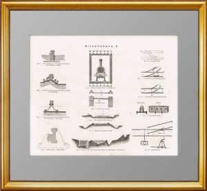 Железные дороги. Набор из 4 антикварных гравюр. 1867г.