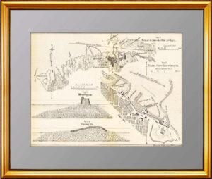 Севастопольский рейд. 1888г. Антикварная литография