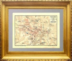 Иерусалим с окрестностями. 1896 г. Старинный план