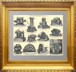 Электрические генераторы (динамо-машины). 1896г. Антикварный подарок энергетику