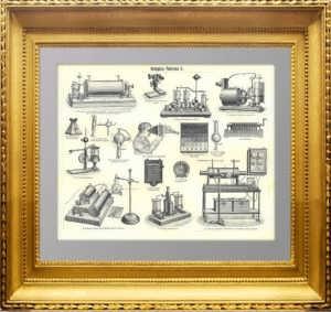 Аппараты Рентгена. 1897г. Старинная оригинальная гравюра