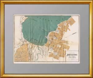 Новороссийск. План города. 1912г. Антикварная карта