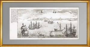Калининградская обл. Ушаково (Brandenburg). 1652г. Мериан. Антикварная гравюра
