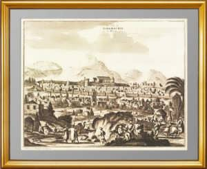 Азербайджан. Шемаха. 1729г. Гравюра на меди. Музейный экземпляр. Антикварный подарок