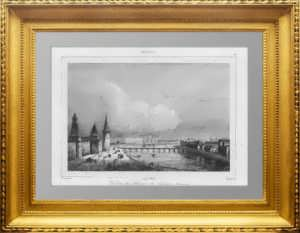 Москва. Воспитательный дом. 1838г.  Кадоль. N97. Антикварная гравюра в подарок