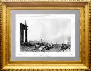 Петербург. Площадь и здание Адмиралтейства. 1838г. Старинная гравюра - антикварный подарок