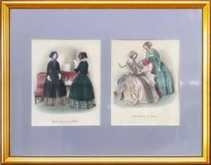 Парижская мода. 1845г. (октябрь и ноябрь). Набор N4 из двух антикварных гравюр
