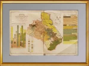 Дагестанская область. 1886г. Антикварная карта. Редкость