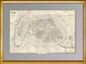 Париж. План города. 1890г. Антикварный подарок. 46x69!