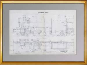 Локомотив Лондонской железной дороги.  1913г. Старинная литография