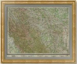 Дрогобыч на старинной антикварной карте. 1914г. Лист 50х75! Редкость.