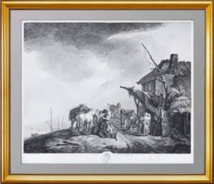 Эрмитажная коллекция. Проезжие на привале. 1750г. Вауверман. Эксклюзивный подарок