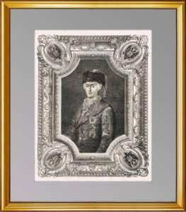 Екатерина II. Портрет. Шибанов/Паннемейкер. 1862г. Антикварная гравюра