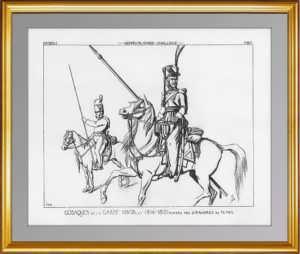 Мундиры лейб-гвардии Казачьего полка. (Лист 265). Жакмин. 1869г. Антикварная гравюра