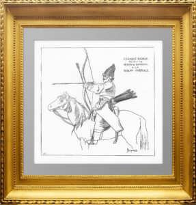 Нерегулярная кавалерия - башкиры. (Лист 261). Жакмин. 1869г. Антикварная гравюра