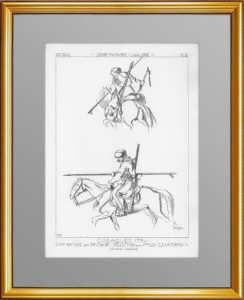Униформа казаков в 1794 году. (Лист 224). Жакмин. 1869г. Антикварная гравюра