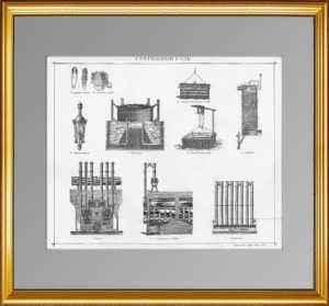 Светильный газ. 1896г. Старинная гравюра.