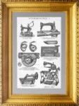 Швейные машины. 1896г. Старинная гравюра