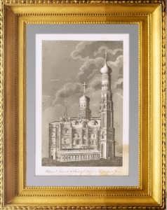 Москва. Колокольня Ивана Великого. 1810г. Старинная гравюра, антикварный подарок