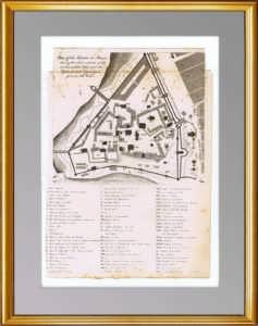 Москва. План Кремля. 1810г. Старинная гравюра, антикварный подарок
