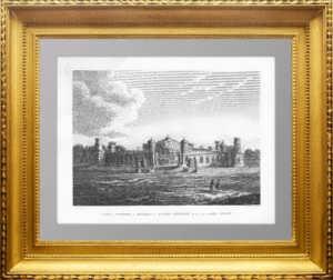 Москва. Путевой дворец. 1810г. Старинная гравюра, антикварный подарок