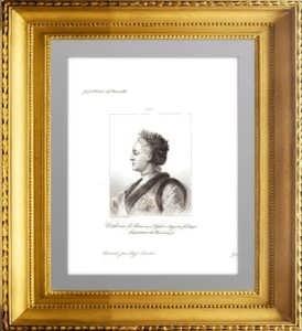 Екатерина II Великая, императрица России. 1838г. Ротари/Сандос. Старинная гравюра