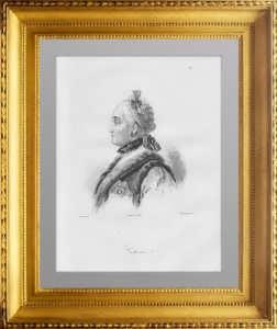 Екатерина II. Императрица Всероссийская. 1838г. Ротари/Лесуэер. Старинная гравюра