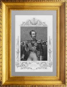 Александр II. Император всероссийский. 1856 г. Паунд. Антикварная гравюра