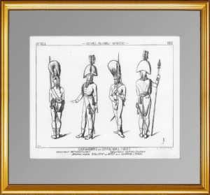 Униформа Семёновского и Измайловского полков. (Лист 243). Жакмин. 1869г. Антикварная гравюра