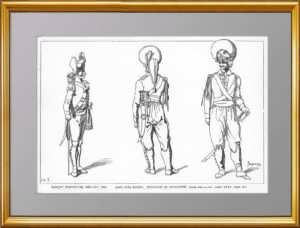 Русская Лейб-гвардия 1793-97 года. (Лист 218). Жакмин. 1869г. Антикварная гравюра