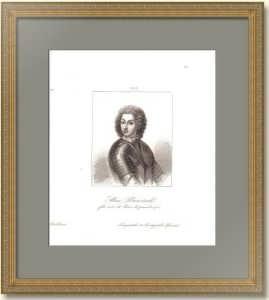 Алексей Петрович Романов. Царевич. Портрет. 1838г. Антикварная гравюра.