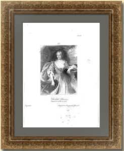 Елизавета Петровна, императрица России. 1838г. Старинная гравюра